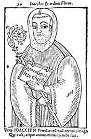 Joachim of Flora, in a 15th-century woodcut - foto preluat de pe en.wikipedia.org