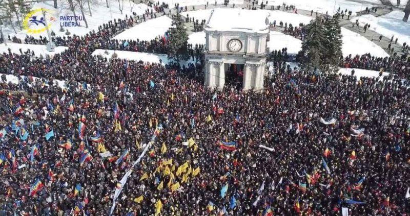 """""""Marea Adunare Centenară"""" (Piața Marii Adunări Naționale - 25 martie 2018) - foto preluat de pe www.facebook.com"""