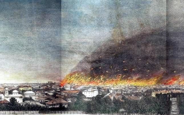 """""""Marele Foc"""", gravură - foto preluat de pe ro.wikipedia.org"""