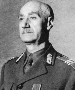 Nicolae Rădescu (n. 30 martie 1874, Călimăneşti – d. 16 mai 1953, New York) a fost un militar de carieră (general de corp de armată adjutant) şi om politic, ultimul prim-ministru al unui guvern român liber înainte de instaurarea regimului comunist în România - foto preluat de pe ro.wikipedia.org