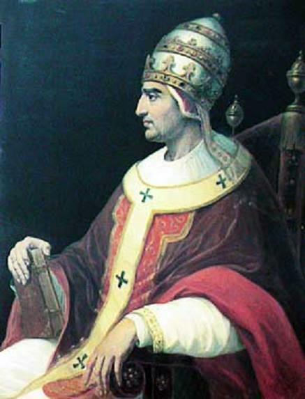 Papa Grigore al XI-lea (născut Pierre Roger de Beaufort,  n.11, c. 1329 – d. 27 martie 1378) a fost papă între 30 decembrie 1370 și 26 martie 1378. În 1377 revine de la Avignon la Roma. Odată cu decesul său, biserica latină trece printr-o criză de autoritate, numită și Marea Schismă Occidentală, prin alegerea a doi sau chiar trei papi. Schisma se încheie în 1417 prin alegerea lui Martin al V-lea (Oddone Colonna) - foto preluat de pe en.wikipedia.org