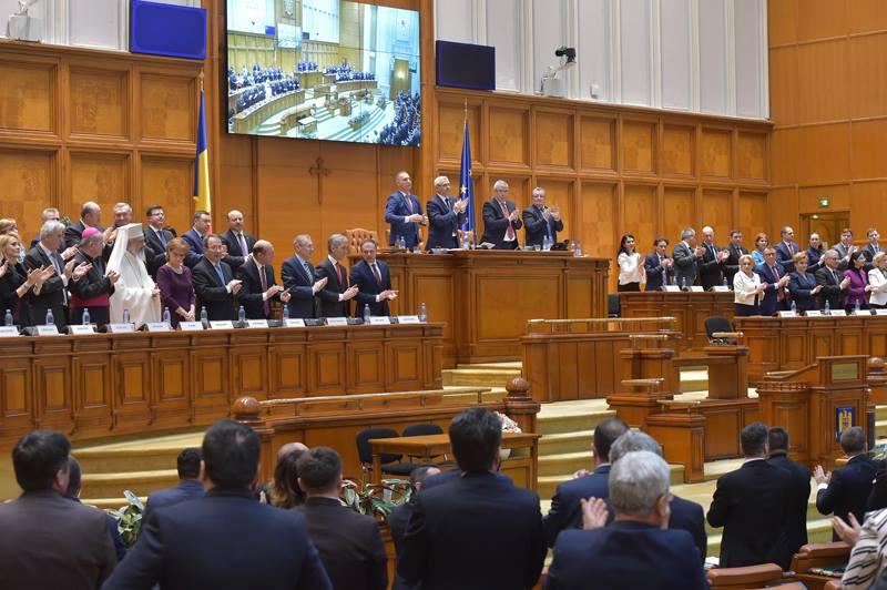 DECLARAŢIA Parlamentului României pentru celebrarea Unirii Basarabiei cu Țara Mamă, România, la 27 martie 1918 - foto preluat de pe www.facebook.com/cameradeputatilor/