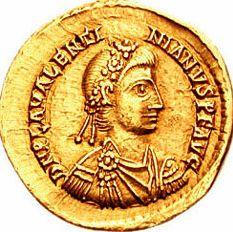 Flavius Placidius Valentinianus (2 iulie 419, Ravenna - 16 martie 455, Roma), cunoscut ca Valentinian III a fost împărat al Imperiului Roman de Apus (424-455) - foto preluat de pe en.wikipedia.org