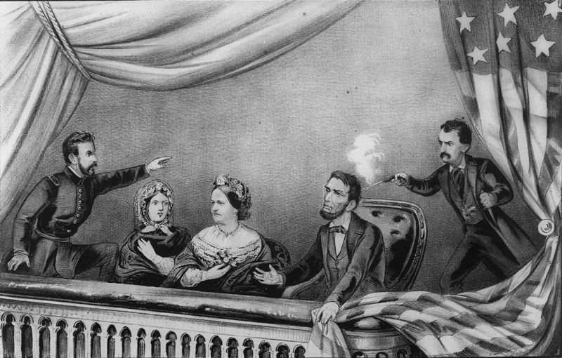 Asasinarea lui Abraham Lincoln - foto preluat de pe ro.wikipedia.org