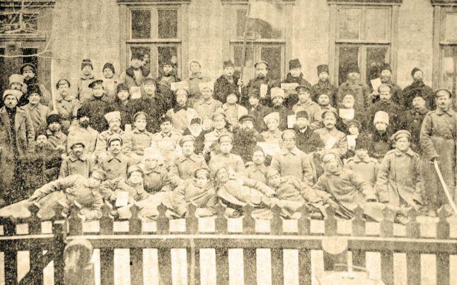 Participanţi la Congresul Moldovenilor din Stânga Nistrului, 17-18 decembrie 1917 - foto preluat de pe marturiilehierofantului.blogspot.ro