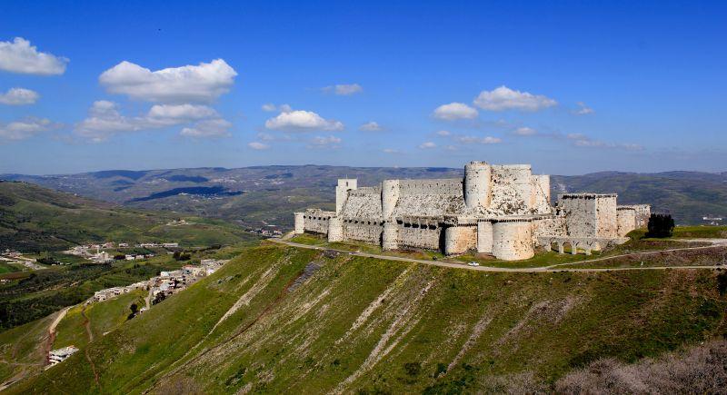 Crac des Chevaliers sau Cetatea Cavalerilor Ospitalieri din Siria, este o fortăreță medievală - foto preluat de pe en.wikipedia.org