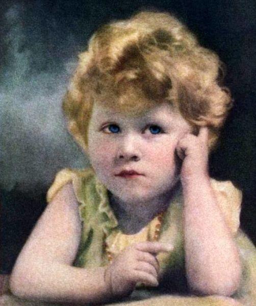 Prințesa Elisabeta la vârsta de trei ani, în 1929 (On the cover of Time magazine, April 1929) - foto preluat de pe ro.wikipedia.org