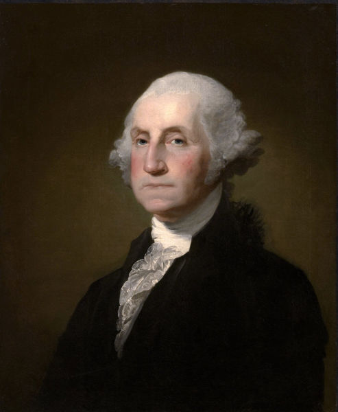 George Washington by Gilbert Stuart, 1797 - foto preluat de pe en.wikipedia.org