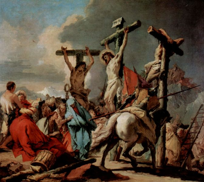 """Răstignirea lui Iisus Hristos"". Tablou de Giovanni Battista - foto preluat de pe ro.wikipedia.org"