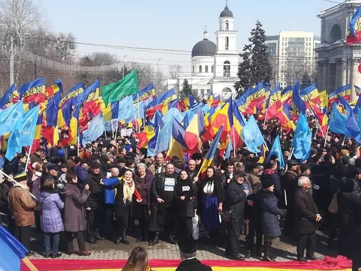 """""""Marea Adunare Centenară"""" - Chişinău, 25 martie 2018 - foto preluat de pe www.facebook.com/alexandru.c.surcel"""