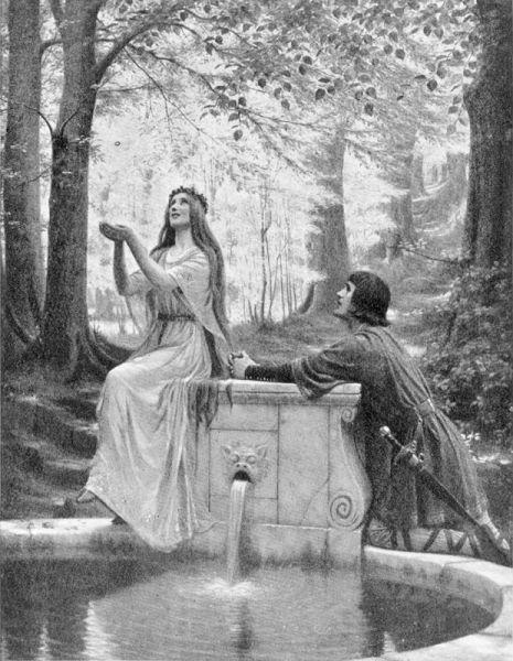 Pelléas & Mélisande, pictură de Edmund Blair Leighton - foto preluat de pe ro.wikipedia.org