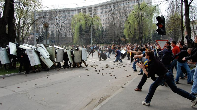 Protestele de la Chişinău din 2009 - foto preluat de pe stiri.tvr.ro
