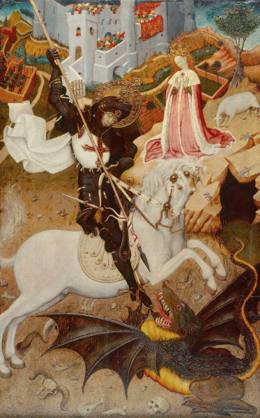 Saint George Killing the Dragon, 1434/35, by Bernat Martorell - foto preluat de pe en.wikipedia.org