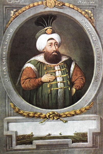 Suleiman al II-lea (n. 15 aprilie 1642 – d. 1691) a fost sultanul Imperiului Otoman în perioada 1687 - 1691 - foto preluat de pe ro.wikipedia.org