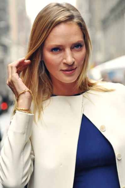 Uma Karuna Thurman (n. 29 aprilie 1970) este o actriță și fotomodel american -Thurman at New York Fashion Week in 2011 - foto preluat de pe en.wikipedia.org