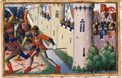 Asediul Compiègne-ului (18 iunie 1430) de Martial de Auvergne - foto preluat de pe ro.wikipedia.org