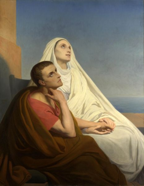 Saint Augustine and his mother, Saint Monica by Ary Scheffer (painting from 1846) - foto preluat de pe en.wikipedia.org