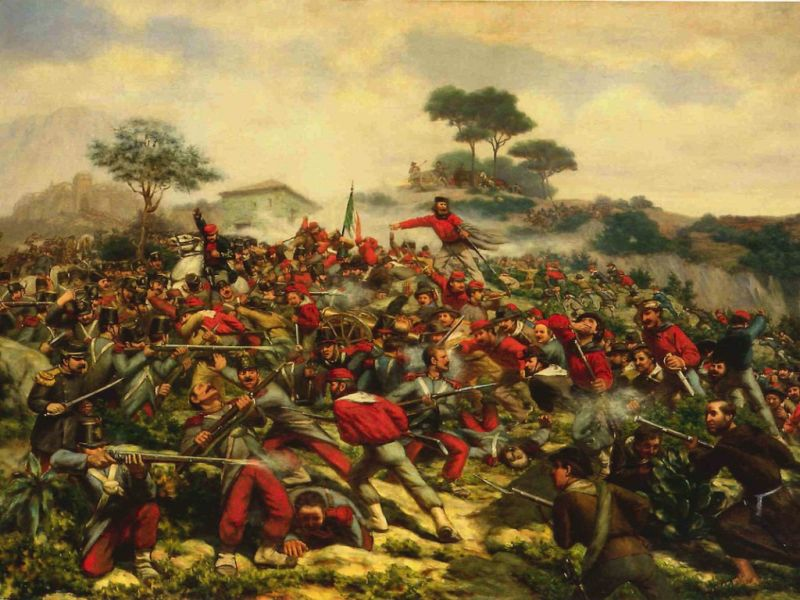 Battle of Calatafimi (15 May 1860) - Part of The Expedition of the Thousand - Skirmish at Calatafimi- foto preluat de pe en.wikipedia.org