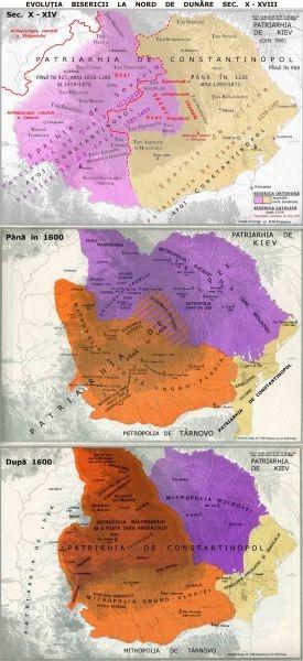 Evoluţia bisericii în ţările române înainte de înfiinţarea Bisericii Ortodoxe Române, după Iorga, Popescu şi Popp - foto preluat de pe ro.wikipedia.org