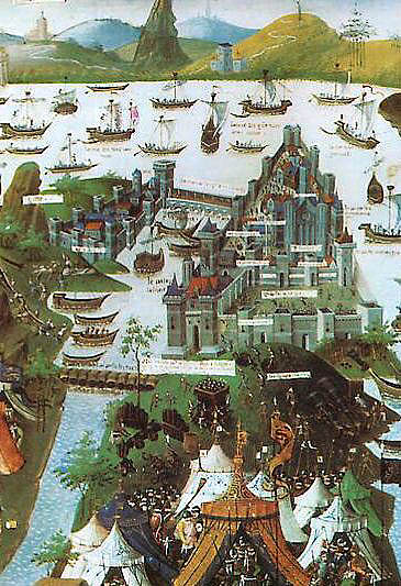 The last siege of Constantinople, contemporary 15th century French miniature - foto preluat de pe en.wikipedia.org