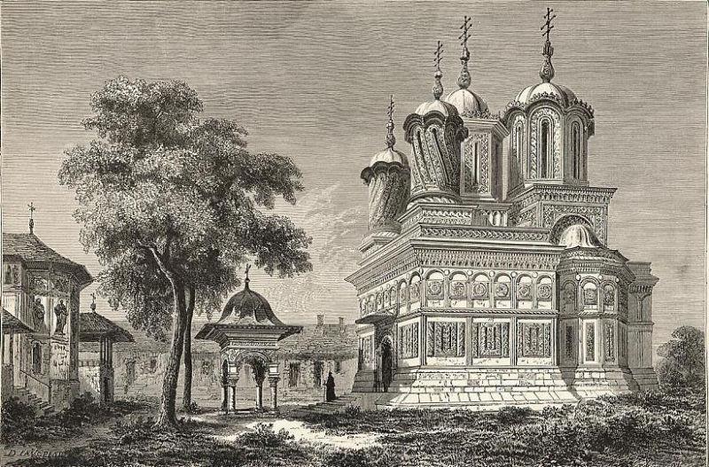 Mănăstirea Curtea de Argeş (Aspectul iniţial al mănăstirii, înaintea restaurării din 1875–1886 - foto preluat de pe ro.wikipedia.org