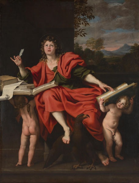 Saint John the Evangelist by Domenichino (1621–29) - foto preluat de pe en.wikipedia.org