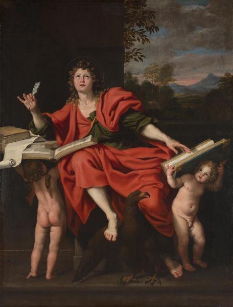 Saint John the Evangelist by Domenichino (1621–29) - foto preluat de pe en.wikipedia.org