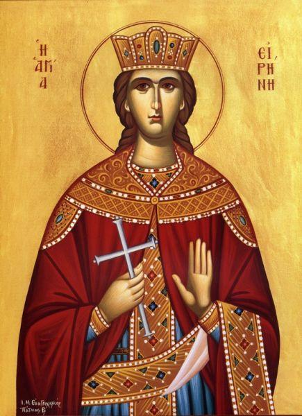 Sfânta Mare Muceniță Irina din Maghedon a trăit și a pătimit în secolul al IV-lea. Numele de Irina înseamnă pace în limba greacă. Ea este una dintre cele douăsprezece sfinte fecioare mucenițe care i-au apărut sfântului Serafim din Sarov, precum și călugăriței Eupraxia la sărbătoarea Buna-Vestiri în 1831. Sf. Irina din Maghedon este prăznuită la 5 mai - foto preluat de pe doxologia.ro