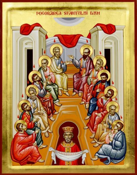 (†) Pogorârea Sfântului Duh (Cincizecimea sau Rusaliile) - foto preluat de pe basilica.ro