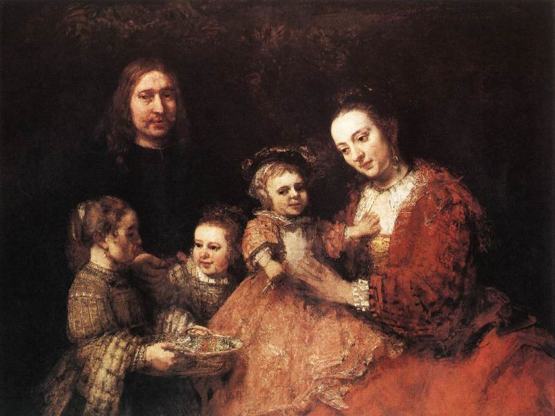 "Rembrandt - ""Portret de familie"" - foto preluat de pe ro.wikipedia.org"