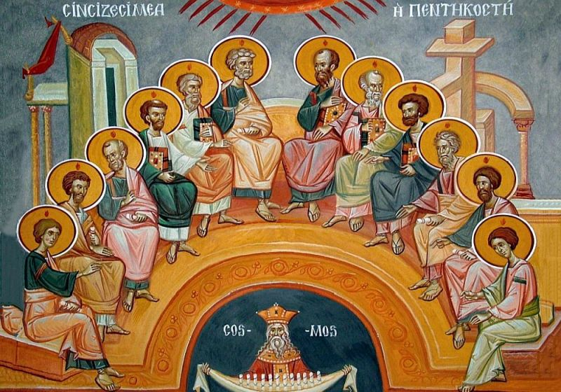 (†) Pogorârea Sfântului Duh (Cincizecimea sau Rusaliile) - foto preluat de pe ziarullumina.ro
