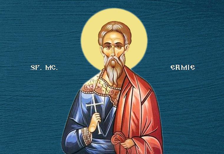 Sfântul Mucenic Ermie.  Prăznuirea sa de către Biserica Ortodoxă se face la data de 31 mai - foto preluat de pe ziarullumina.ro