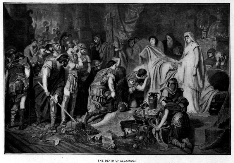 Moartea lui Alexandru cel Mare (n. 20 iulie 356 î.e.n. – d. 10 iunie 323 î.e.n) - foto preluat de pe ro.wikipedia.org
