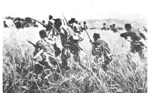 Bătălia de la Kilkis-Lahanas - Parte din al Doilea Război Balcanic (Soldaţi greci în timpul bătăliei) - foto preluat de pe ro.wikipedia.org