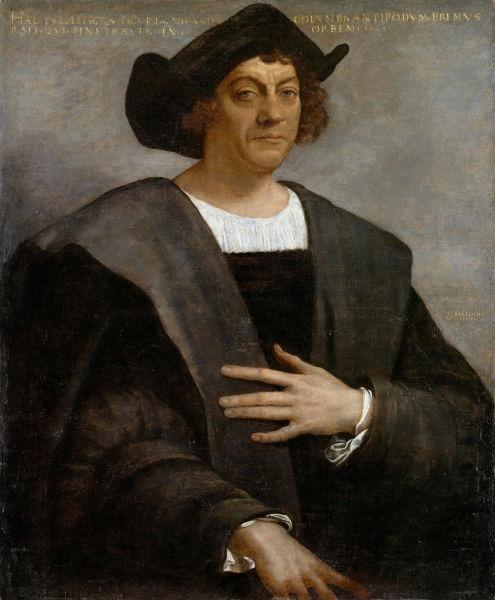 Cristofor Columb (italiană Cristoforo Colombo, spaniolă Cristóbal Colón, n. între august și octombrie 1451 – d. 20 mai 1506) a fost un navigator italiano-spaniol. A navigat spre vest, pe Oceanul Atlantic, în căutarea unei rute spre Asia, dar și-a câștigat reputația descoperind un nou continent, America, în perioada precolumbiană fiind cunoscută numai Lumea Veche -Posthumous portrait of Christopher Columbus by Sebastiano del Piombo, 1519. There are no known authentic portraits of Columbus - foto preluat de pe ro.wikipedia.org