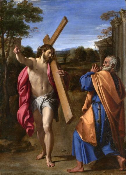 Domine quo vadis? (1602) by Annibale Carracci - foto preluat de pe en.wikipedia.org