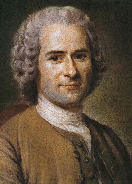 Jean Jacques Rousseau (n. 28 iunie 1712 - d. 2 iulie 1778) a fost un filozof francez de origine geneveză, scriitor și compozitor, unul dintre cei mai iluștri gânditori ai Iluminismului - Rousseau by Maurice Quentin de La Tour, 1753 - foto preluat de pe ro.wikipedia.org
