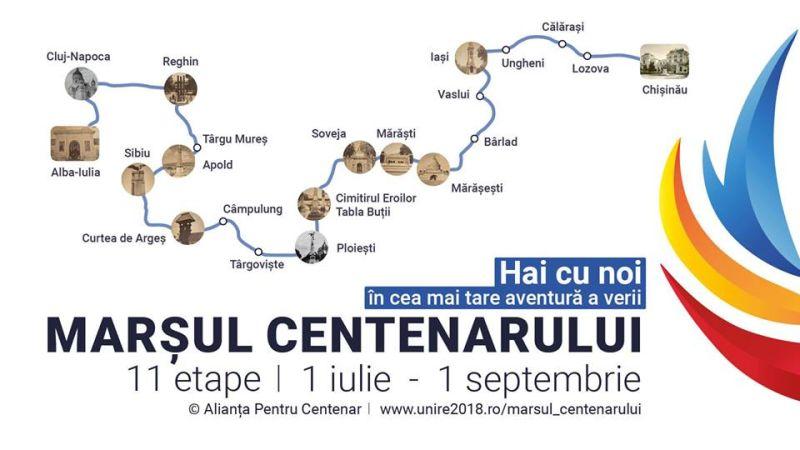 Marșul Centenarului - foto preluat de pe www.facebook.com