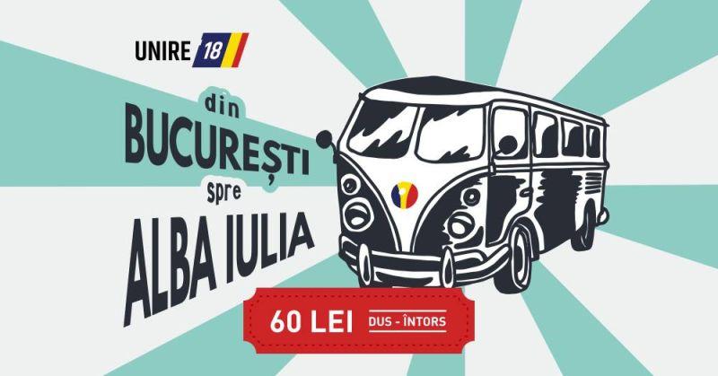 Din București la Alba Iulia pentru MAREA UNIRE - foto preluat de pe www.facebook.com