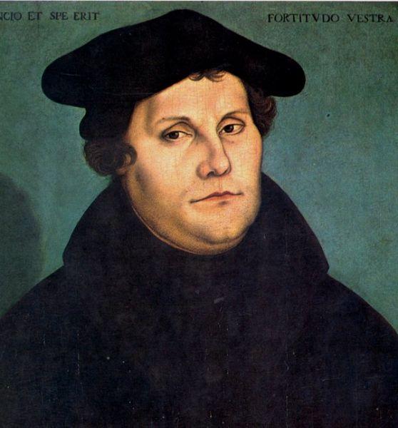 Martin Luther (n. 10 noiembrie 1483, Eisleben, Saxonia - d. 18 februarie 1546), pastor şi doctor în teologie, a fost primul reformator protestant ale cărui reforme au dus la naşterea Bisericii Evanghelice-Luterane. Primele idei ale Reformei protestante au fost enunţate de Martin Luther în 1517, în calitatea sa de preot catolic şi profesor de exegeză la Universitatea din Wittenberg. Excomunicarea sa din Biserica Catolică a survenit în anul 1521 - Martin Luther, 1529 - portret de Lucas Cranach cel Bătrân - foto preluat de pe ro.wikipedia.org