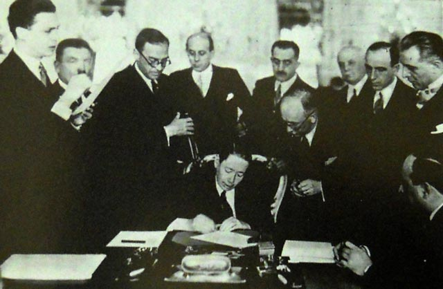 Reuniunea Consiliului Permanent al Micii Înţelegeri, Praga, 29 mai - 1 iunie 1933. Nicolae Titulescu, Edvard Beneš şi Bogoljub Jevtic - foto preluat de pe enciclopediaromaniei.ro
