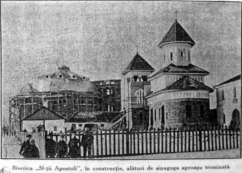 """Biserica """"Sfinții Apostoli Petru și Pavel"""" din Bălți a fost ridicată între anii 1915 și 1929, în apropiere de închisoarea din oraș - foto preluat de pe neoromanesc.blogspot.com"""