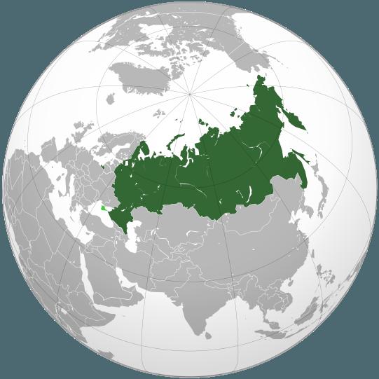 Localizare Rusia (verde) Crimeea administrată de Rusia (disputată; verde deschis) - foto preluat de pe ro.wikipedia.org