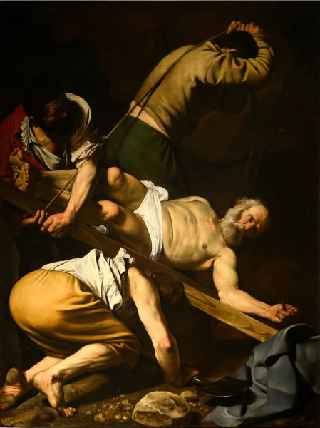 The Crucifixion of Saint Peter (1601) by Caravaggio - foto preluat de pe en.wikipedia.org