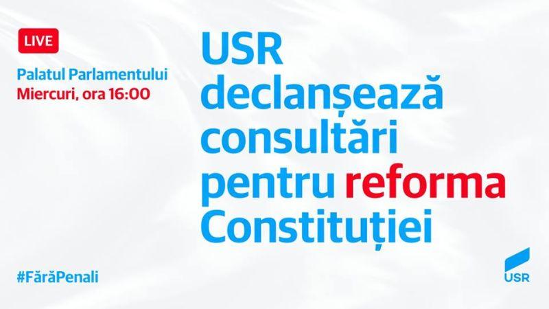 """USR lansează dezbaterea națională """"Ce fel de republică este România? - Soluții pentru criza constituțională provocată de decizia CCR"""" - foto preluat de pe www.facebook.com"""