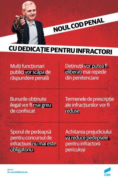 Explicaţii suplimentare la modificările Codului Penal - foto preluat de pe www.facebook.com