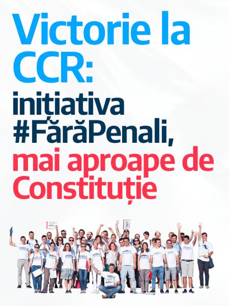 Fără Penali în funcții publice - Inițiativa cetățenească de modificare a Constituției -  foto preluat de pe facebook.com/Uniunea Salvați România - USR