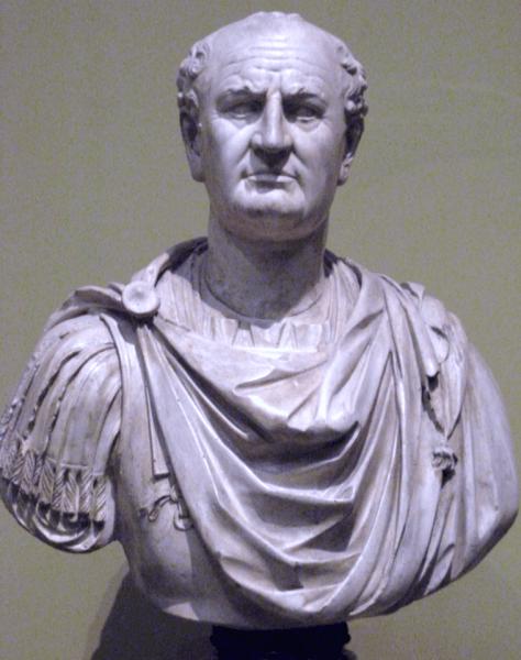 Vespasian, cunoscut și ca Caesar Vespasianus Augustus, sau Titus Flavius Vespasianus (n. 17 noiembrie 9 la Cittareale – d. 23 iunie 79 la Roma), a fost împărat roman din decembrie 69 (Anul celor patru împărați) până în iunie 79 - foto preluat de pe ro.wikipedia.org