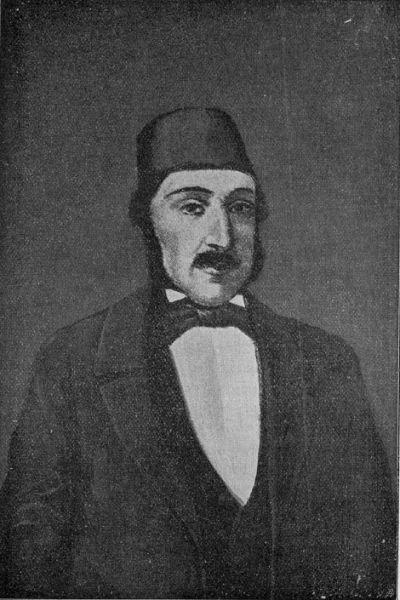 Anton Pann (născut: Antonie Pantoleon-Petroveanu; data naşterii incertă, între 1796-1798, Sliven, Imperiul Otoman, azi Bulgaria - d. 2 noiembrie 1854, Bucureşti, Ţara Românească) a fost un poet, profesor de muzică religioasă, protopsalt, compozitor de muzică religioasă, folclorist, literat şi publicist român,[2] compozitor al muzicii imnului naţional al României -gravură de epocă - foto preluat de pe ro.wikipedia.org