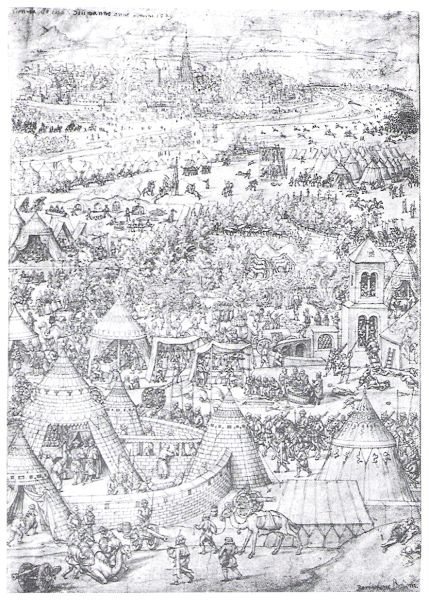 Bătălia de la Viena 1683 - Primul Asediu al Vienei  (27 septembrie  - 14 octombrie 1529) - Contemporary 1529 engraving of clashes between the Austrians and Ottomans outside Vienna, by Bartel Beham - foto preluat de pe en.wikipedia.org